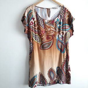 Love 21 Boho Festival Tunic Top / Shirt Dress M